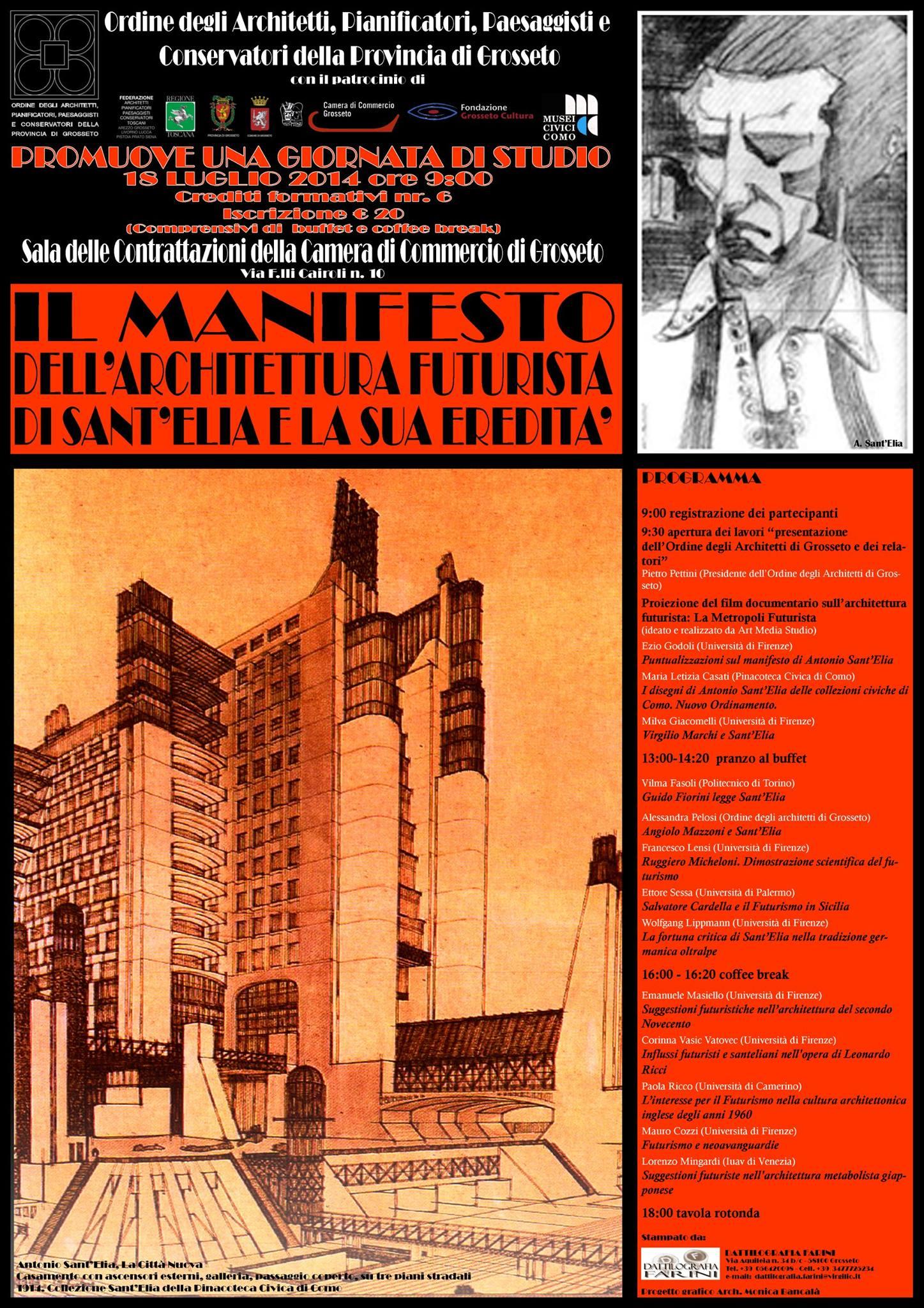 Il manifesto dell 39 architettura futurista di sant 39 elia e la for Architetto sant elia